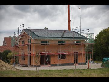 Wohnhaus-Neubau in Oberneufnach